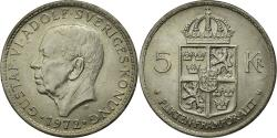World Coins - Coin, Sweden, Gustaf VI, 5 Kronor, 1972, , Copper-Nickel Clad Nickel