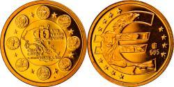 World Coins - Greece, Medal, 10 ans de l'Euro, 2009, , Gold