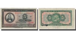 World Coins - Banknote, Greece, 5 Drachmai, 1923, KM:73a, EF(40-45)