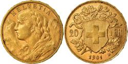 Ancient Coins - Coin, Switzerland, 20 Francs, 1901, Bern, , Gold, KM:35.1