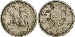World Coins - Coin, Portugal, 5 Escudos, 1969, , Copper-nickel, KM:591