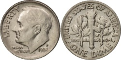 Us Coins - United States, Roosevelt Dime, 1984, Philadelphia, , KM:195a