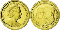 World Coins - Coin, Falkland Islands, 1/64 Crown, 2011, , Gold, KM:New