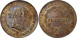 World Coins - Coin, Italy, LUCCA, Felix and Elisa, 5 Franchi, 1805, Epreuve, , Copper