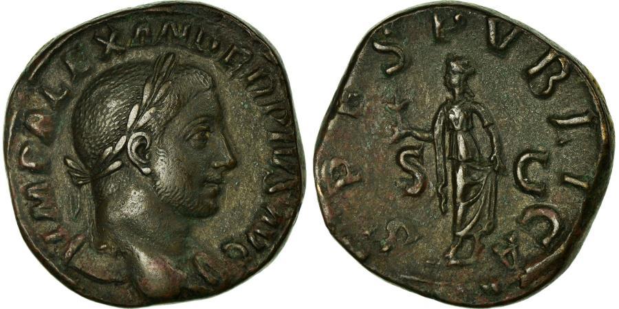 Ancient Coins - Coin, Severus Alexander, Sestertius, Roma, AU(50-53), Bronze, RIC:648b
