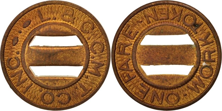 US Coins - United States, Token, L. & C. C. M. T. Co. Inc.