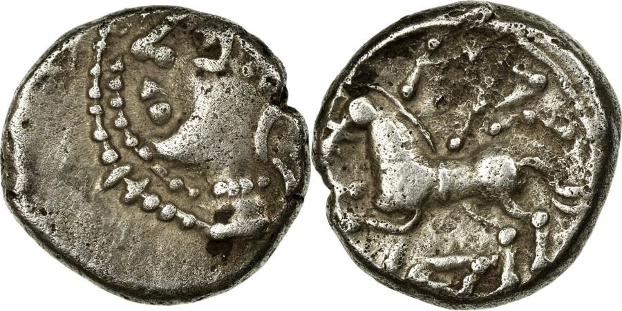 Ancient Coins - Coin, Kaletedoy, Lingones, Quinarius, , Silver, Delestrée:3195