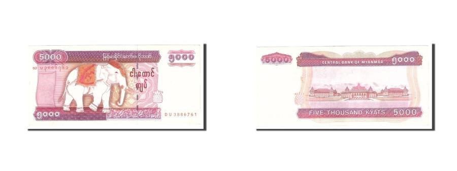 World Coins - Myanmar, 5000 Kyats, 2009, KM:81, Undated, AU(55-58)
