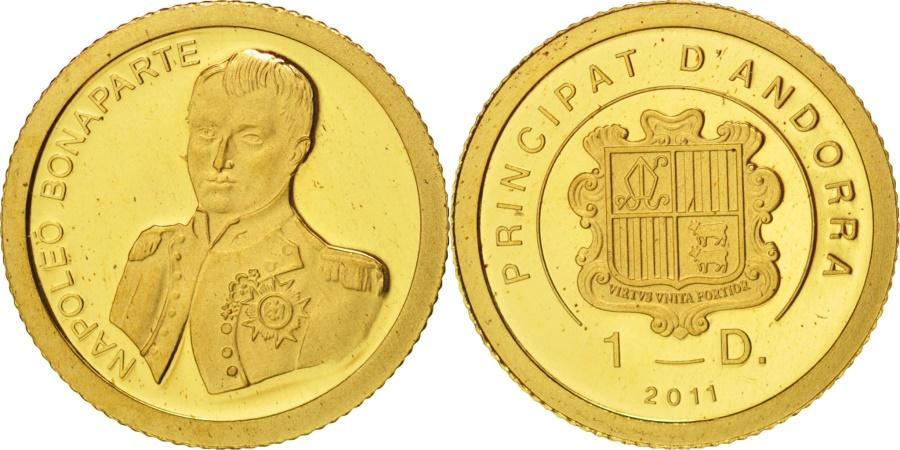 World Coins - Andorra, Diner, 2011, Napoleon Bonaparte, , Gold