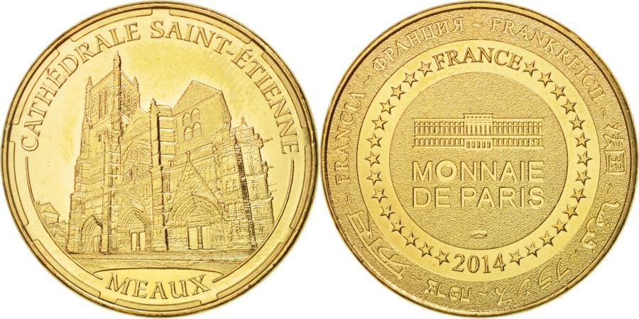 World Coins - France, Tourist Token, 77/ Cathédrale Saint-Etienne - Meaux, 2014, MDP