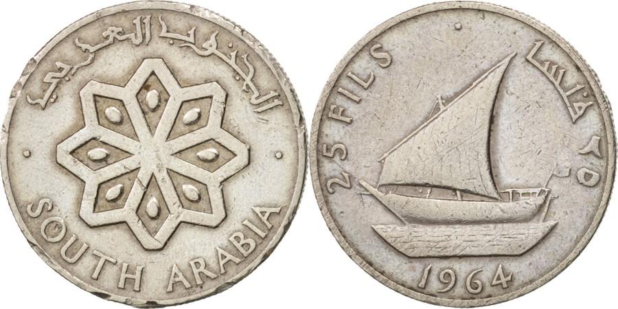 World Coins - SOUTH ARABIA, 25 Fils, 1964, , Copper-nickel, KM:3