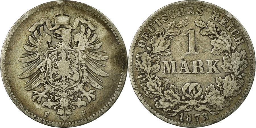 World Coins - Coin, GERMANY - EMPIRE, Wilhelm I, Mark, 1873, Stuttgart, , Silver,KM 7