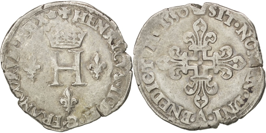 World Coins - FRANCE, Gros de Nesle, 1550, Paris, , Silver, Sombart #4456., 5.56