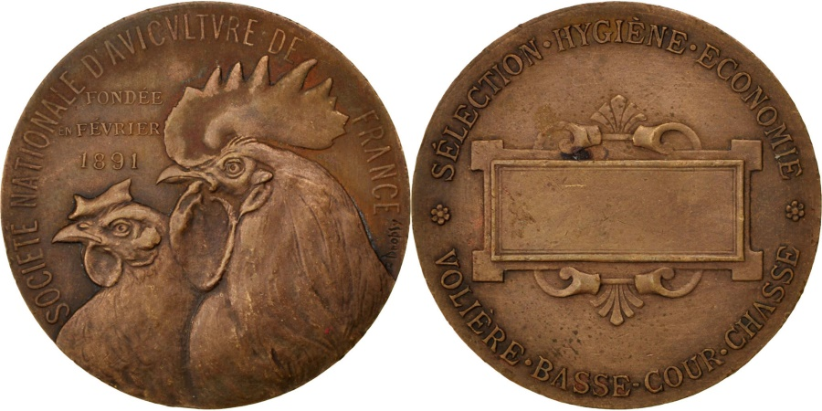 World Coins - FRANCE, Business & industry, French Third Republic, Medal, , Dropsy,...