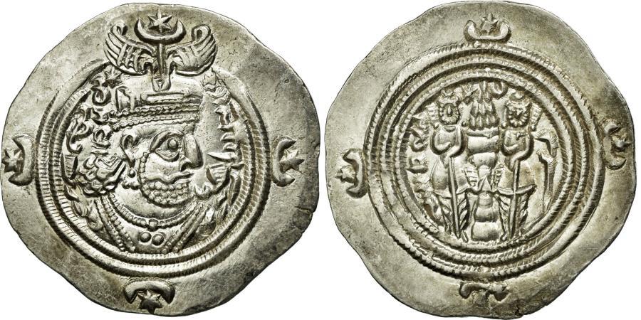 Ancient Coins - Coin, Sasanian Kings, Khusrau II, Drachm, ZR (Zarang), , Silver