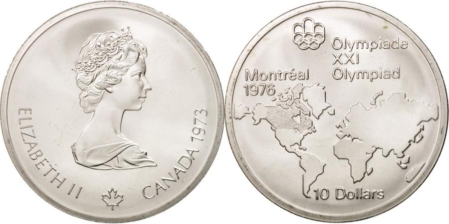 World Coins - Canada, Elizabeth II, 10 Dollars, 1973, Ottawa, , KM:86.1