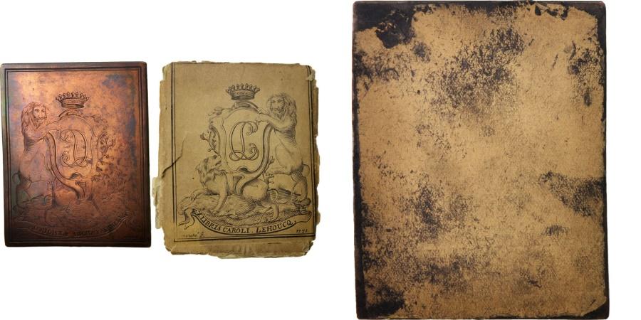 World Coins - France, Ex-libris, Ville de Lille, Libraire Charles François Joseph Lehoucq