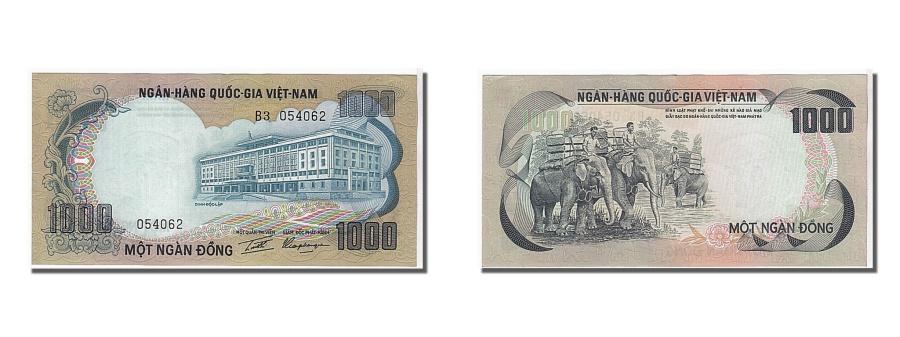 World Coins - South Viet Nam, 1000 Dng, 1972, KM #34a, UNC(65-70), 054062