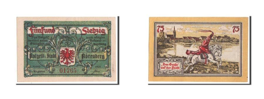 World Coins - Germany, Norenberg Stadt, 75 Pfennig, 1921, UNC(63), 01765, Mehl #979.45