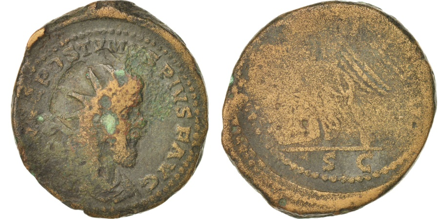 Ancient Coins - Postumus, Sestertius, 261, Trier, , Copper, RIC:172