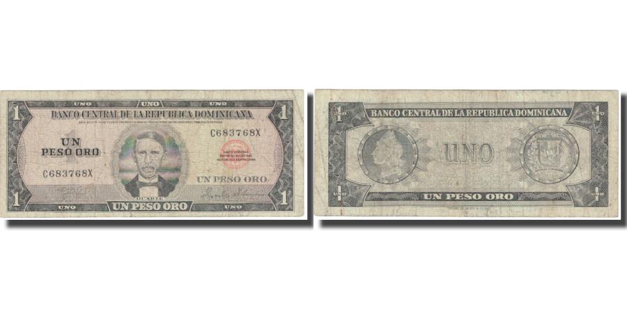 World Coins - Banknote, Dominican Republic, 1 Peso Oro, KM:108a, VF(20-25)