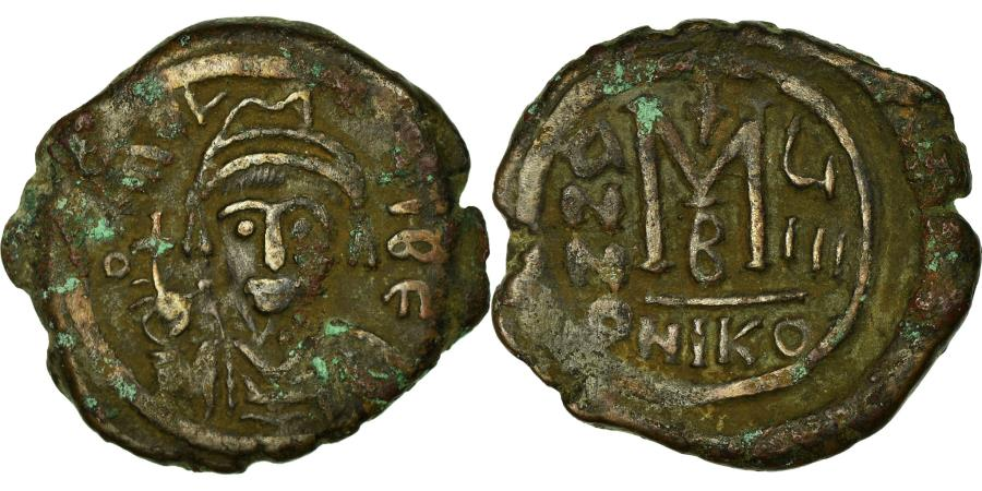 Ancient Coins - Coin, Maurice Tiberius, Follis, 590-591, Nicomedia, , Copper, Sear:512