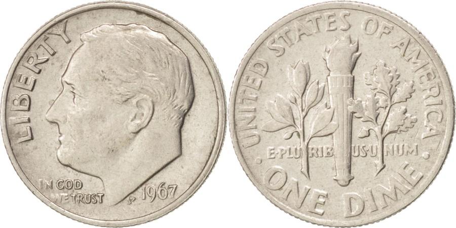 US Coins - UNITED STATES, Roosevelt Dime, Dime, 1967, U.S. Mint, KM #195a, ,...