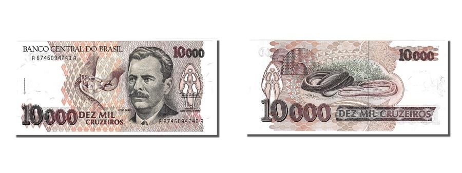 World Coins - Brazil, 10,000 Cruzeiros, 1992, KM #233b, UNC(65-70), A