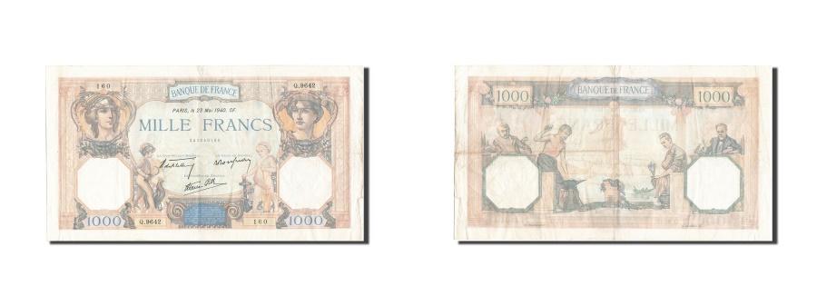 World Coins - France, 1000 Francs, 1 000 F 1927-1940 ''Cérès et Mercure'', 1940, KM #96a, 1...