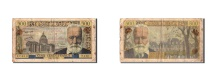 World Coins - France, 5 Nouveaux Francs on 500 Francs, 1955-1959 Overprinted with ''Nouveau...