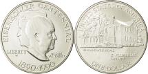 Us Coins - United States, Dollar, Eisenhower, 1990, West Point, MS(65-70), Silver, KM:227
