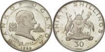 World Coins - Coin, Uganda, 30 Shillings, 1969, MS(63), Silver, KM:13