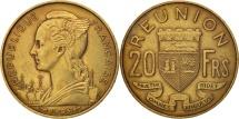 World Coins - Réunion, 20 Francs, 1955, AU(55-58), Aluminum-Bronze, KM:11