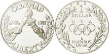 Us Coins - United States, Dollar, Olympic Games, 1988, MS(65-70), Silver, KM:222