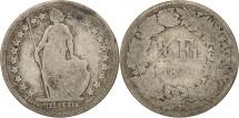 Switzerland, 1/2 Franc, 1879, Bern, VG(8-10), Silver, KM:23