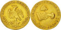World Coins - Mexico, Escudo, 1860, Guadalajara, EF(40-45), Gold, KM:379.2