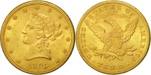 Us Coins - United States, Coronet Head, $10, 1899, San Francisco, AU(55-58), Gold, KM:102
