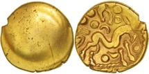 Ambiani, Area of Amiens, Stater, AU(55-58), Gold, Delestré:240