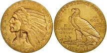 Us Coins - United States, Indian Head, $5, 1909, Denver, AU(50-53), Gold, KM:129