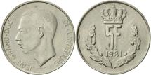 World Coins - Luxembourg, Jean, 5 Francs, 1981, AU(50-53), Copper-nickel, KM:56