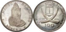 World Coins - Coin, Equatorial Guinea, 100 Pesetas, 1970, MS(63), Silver, KM:12.1