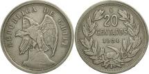 World Coins - Chile, 20 Centavos, 1924, EF(40-45), Copper-nickel, KM:167.1