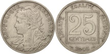 France, Patey, 25 Centimes, 1903, Paris, EF(40-45), Nickel, KM:855, Gadoury:362