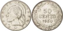 World Coins - Liberia, 50 Cents, 1960, Heaton, EF(40-45), Silver, KM:17