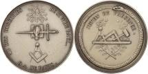 World Coins - France, Token, Masonic, Orient de Paris, Loge des disciples de Saint Vincent de
