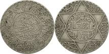 Morocco, 'Abd al-Aziz, 1/4 Rial, 2-1/2 Dirhams, 1903, London, EF(40-45), Silver