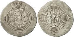 Ancient Coins - Coin, Khusrau II, Drachm, 590-628, BBA Court, AU(50-53), Silver