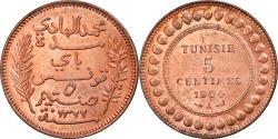 World Coins - Coin, Tunisia, Muhammad al-Hadi Bey, 5 Centimes, 1904, Paris, , Bronze