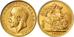 Coin, Great Britain, George V, Sovereign, 1911, , Gold, KM:820