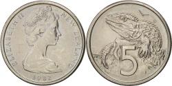 World Coins - New Zealand, Elizabeth II, 5 Cents, 1982, , Copper-nickel, KM:34.1